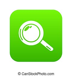 Magnifier icon green