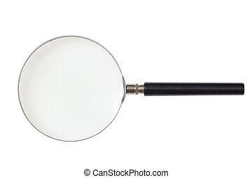 Magnifier isolated on white background. 3d illustration