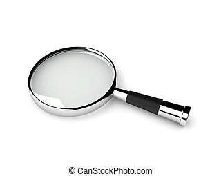 magnifier lens - three dimensional isolated magnifier lens