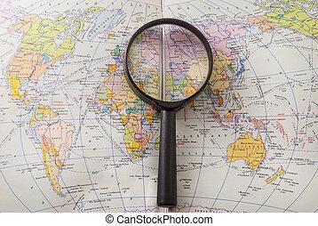 magnifier, mapa mundial