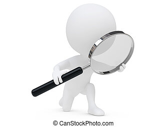 magnifier, personagem, humanoid, 3d