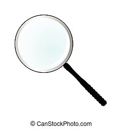 magnifier simple vector illustration on white background