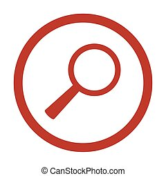 Magnifier Vector Icon on white background.