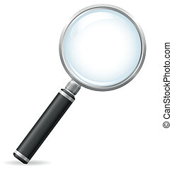 magnifier vector illustration isolated on white background