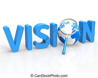 Magnifier Vision Shows Missions Plan And Target