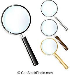 magnifiers, set