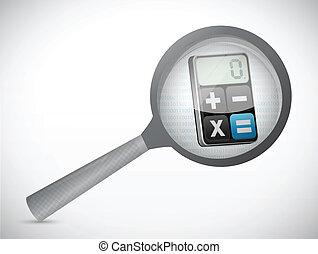 magnify calculator illustration design