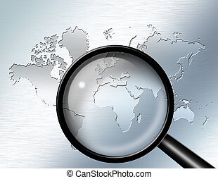 Magnify Glass focus on Africa