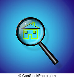 Magnify Glass Reveals Home