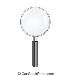 magnify glass, vector illustration