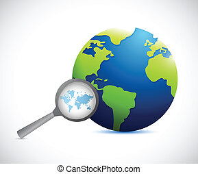 magnify international world map illustration