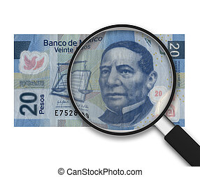 Magnifying Glass - 20 Pesos - Front Side
