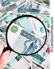 Magnifying Glass and a Money