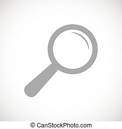 Magnifying glass black icon
