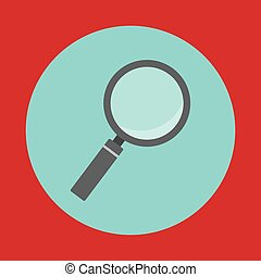 magnifying glass button icon image