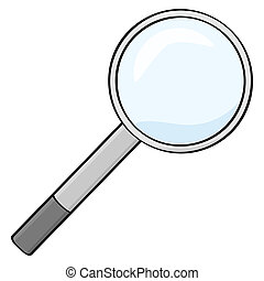 Magnifying glass - Cartoon illustration of a magnifying ...