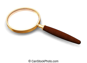 Magnifying glass - 3D render of a magnifying glass