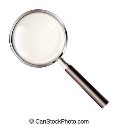 Magnifying glass - Black handled magnifying glass with light...
