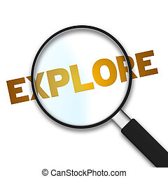 Magnifying Glass - Explore - Magnifying Glass with the word ...