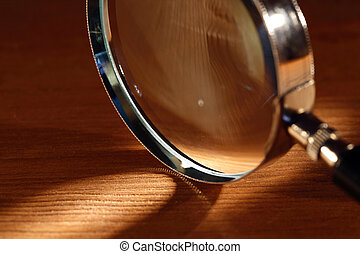Magnifying Glass - Extreme closeup of magnifying glass ...