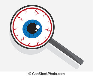 Magnifying Glass Eyeball