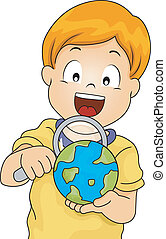 Magnifying Glass Globe