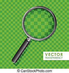 magnifying glass green