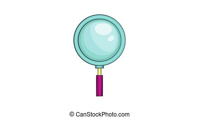 Magnifying glass icon animation cartoon best object isolated on white background