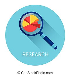 Magnifying Glass Icon Business Research Concept