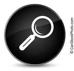 Magnifying glass icon elegant black round button