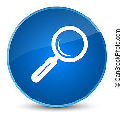 Magnifying glass icon elegant blue round button