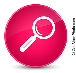 Magnifying glass icon elegant pink round button