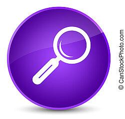 Magnifying glass icon elegant purple round button