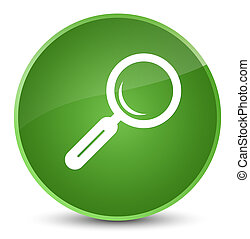Magnifying glass icon elegant soft green round button