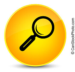 Magnifying glass icon elegant yellow round button