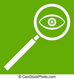 Magnifying glass icon green