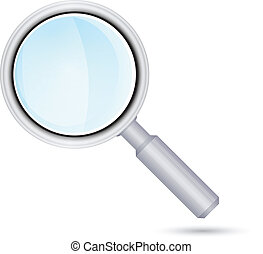 Magnifying glass icon. Vector illustration