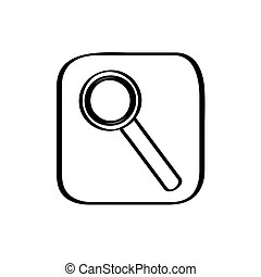 Magnifying glass icon on a white background