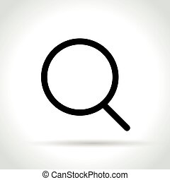 magnifying glass icon on white background