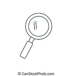 magnifying glass icon over white background. vector...