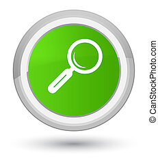 Magnifying glass icon prime soft green round button