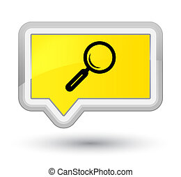 Magnifying glass icon prime yellow banner button