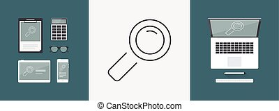 Magnifying glass icon - Thin series