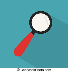magnifying glass icon- vector illustration