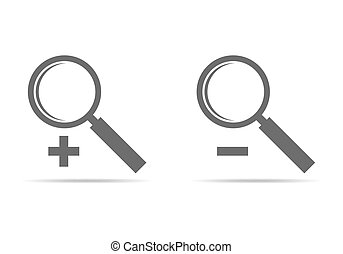 Magnifying glass icon. Vector illustration.