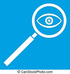 Magnifying glass icon white