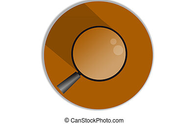 Magnifying glass icon with yellow background