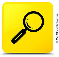 Magnifying glass icon yellow square button