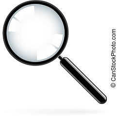 Magnifying glass - Illustration of a magnifying glass over...