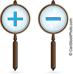 Magnifying glass. Illustration on white background